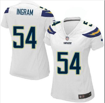 Women's Charges #54 Melvin Ingram Football jersey white