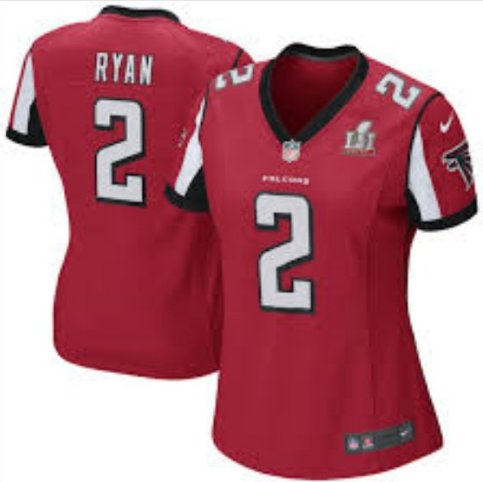 Women's Atlanta Falcons #2 Matt Ryan Red Limited football Jersey