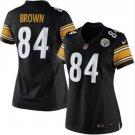 Women Pittsburge Steelers #84 Antonio Brown black jersey