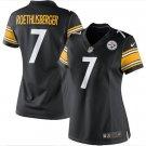 Women Pittsburge Steelers #7 Roethlisberger jersey black