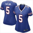 Women Bufflo Bills #5 Tyrod Taylor biue fashion jersey
