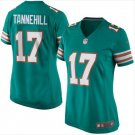 Women's Miami Dolphins #17 Ryan Tannehill Aqua New 2018 Game Jersey