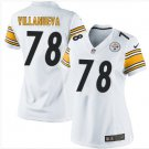 Women's Steelers #78 Alejandro Villanueva football jersey white
