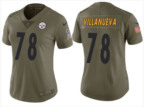 best sneakers b1512 e622f Women's Steelers #78 Alejandro Villanueva football jersey white