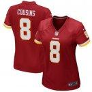 Women's Washington Redskins #8 Kirk Cousins Burgundy Game football Jersey