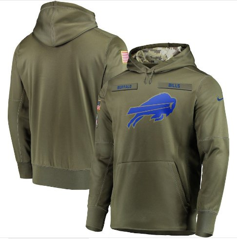Buffalo Bills Salute to Service Jersey Pullover Hoodie � Olive Mens
