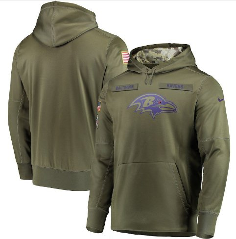 Baltimore Ravens Salute to Service Jersey Pullover Hoodie � Olive Mens