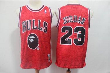 low priced 87556 2aa52 Men's BAPE Joint Bulls 23# Michael Jordan Basketball Jersey ...