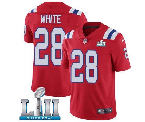 buy online 7997b 8df32 New England Patriots #11 Julian Edelman White Super Bowl LII ...
