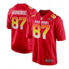 Men's New England Patriots #87 Rob Gronkowski Red Pro Bowl Game Jersey