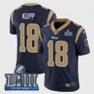 Los Angeles Rams 18# Cooper Kupp Black 2019 Super Bowl LIII Limited Jersey New