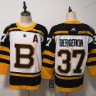 Mens Boston Bruins 37# Patrice Bergeron Yellow White Jersey
