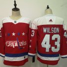 Mens Washington Capitals 43# Tom Wilson Red Jersey