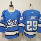 Mens Winnipeg Jets 29# Patrik Laine Blue Jersey
