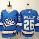 Mens Winnipeg Jets 26# Blake Wheeler Blue Jersey