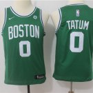 Youth Boston Celtics 0# Jayson Tatum Basketball Jersey green