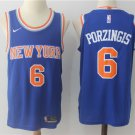 Youth Kristaps Porzingis New York Knicks 6# Replica Basketball Blue Jersey