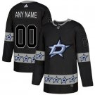 New Men's Dallas Stars Custom your name black Ice Hockey jersey stitched