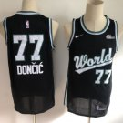 Men's Rookie competition Mavericks 77 Luka Doncic Jersey Black New