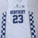 Men's NCAA University of Kentucky Team #23 Anthony Davis Jersey White