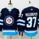 Mens Winnipeg Jets 37# Connor Hellebuyck Ice Hockey Jersey Black