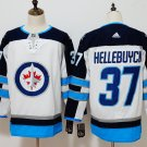 Mens Winnipeg Jets 37# Connor Hellebuyck Ice Hockey Jersey White