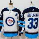 Mens Winnipeg Jets 33# Dustin Byfuglien Ice Hockey Jersey White