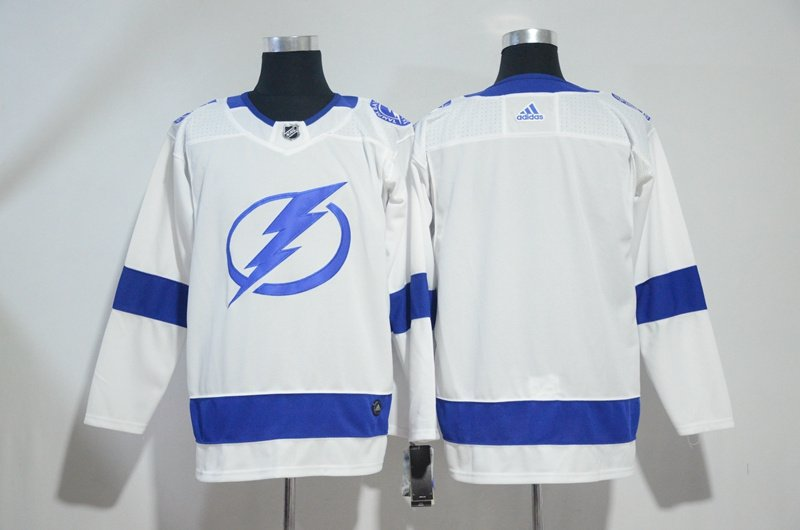 Mens Tampa Bay Lightning Blank Ice Hockey Jersey White