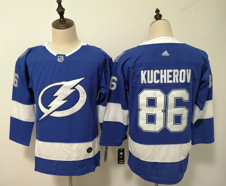 Womens Tampa Bay Lightning 86# Nikita Kucherov Ice Hockey Jersey Blue