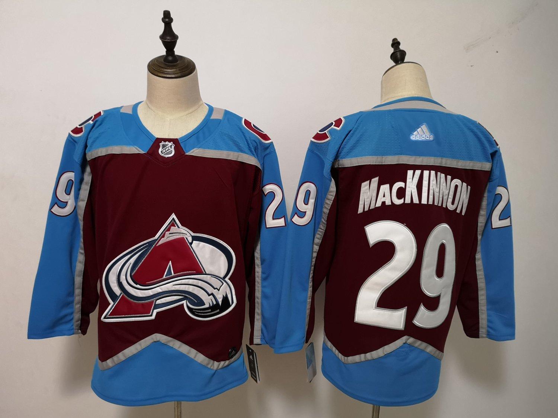 Mens Colorado Avalanche 29# Nathan MacKinnon Ice Hockey Jersey Red