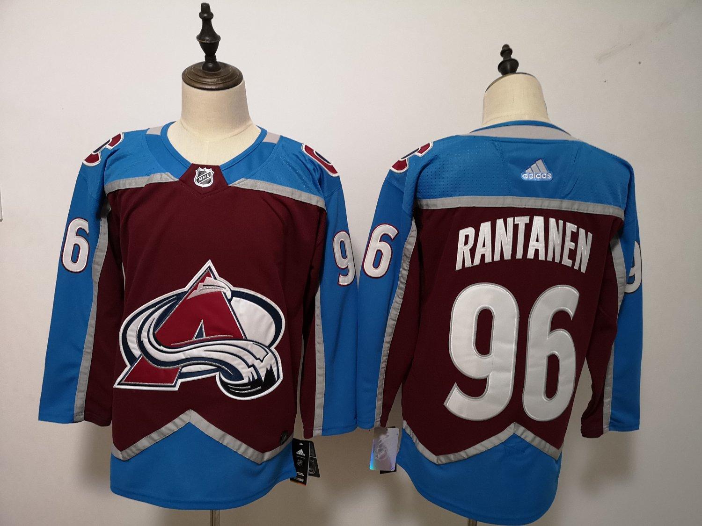 Mens Colorado Avalanche 96# Mikko Rantanen Ice Hockey Jersey Red