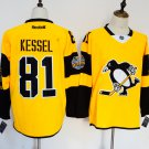 Mens Pittsburgh Penguins 81# Phil Kessel Ice Hockey Jersey Yellow