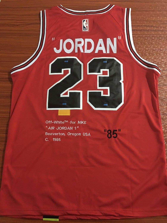 Mens Michael Jordan no.23 Chicago Bulls Commemorative Edition Basketball Jersey Red