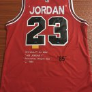 Mens Michael Jordan no.23 Chicago Bulls Commemorative Edition Basketball Jersey Red