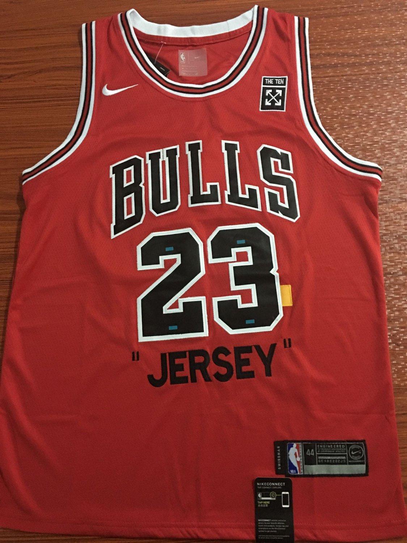 Mens Chicago Bulls 23# Michael Jordan Commemorative Edition Basketball Jersey Red