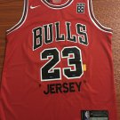 Mens Chicago Bulls 23# Michael Jordan Commemorative Edition Basketball Jersey Red