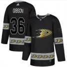 Men's John Gibson 36# Anaheim Ducks Ice Hockey Jersey Black