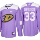 Men's Greg Goldberg 33# Anaheim Ducks Ice Hockey Jersey Purple