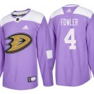 Men's Cam Fowler 4# Anaheim Ducks Ice Hockey Jersey Purple