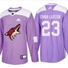 Men's Oliver Ekman-larsson 23# Arizona Coyotes Ice Hockey Jersey Purple