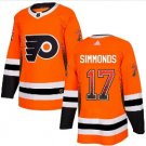 Men's Philadelphia Flyers 17# Wayne Simmonds Ice Hockey Stitched Jersey Orange