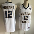 Mens Murray State College 12# Ja Morant White Jersey NCAA New