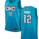 Men's Oklahoma City Thunder 12# Steven Adams Jersey Blue City version New