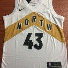 Men's Toronto Raptors #43 Pascal Siakam Basketball Jersey White Gold City version New