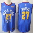 Men's Denver Nuggets #27 Jamal Murray Blue Basketball Stitched Jersey New