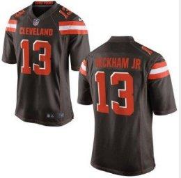 best service f0895 2fed6 Men's Cleveland Browns 13# Odell Beckham Jr Game Jersey ...