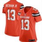 Women's Cleveland Browns 13# Odell Beckham Jr Game Jersey Orange New