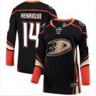 Mens Adam Henrique 14# Anaheim Ducks Ice Hockey Stitched Jersey Black