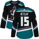 Womens Ryan Getzlaf 15# Anaheim Ducks Ice Hockey Stitched Jersey Black