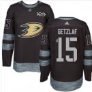 Mens Ryan Getzlaf 15# Anaheim Ducks Ice Hockey Stitched Jersey Black